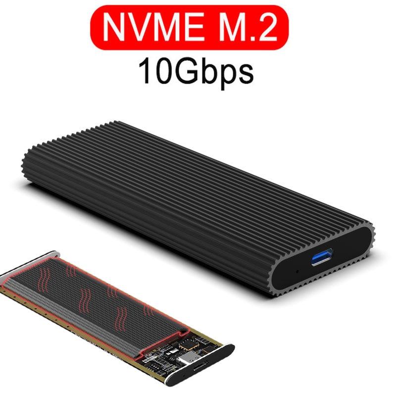 PCIE NVME M.2 SSD Case Type-c Port USB 3.1 SSD Enclosure 10Gbps NGFF SATA Transmission Hard Drive Box USB 3.0 HDD Case