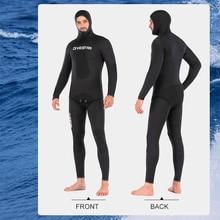3mm/5mm terno de mergulho ao ar livre latente camuflagem caça peixe terno com capuz quente divisão mergulho surf caça submarina wetsuit