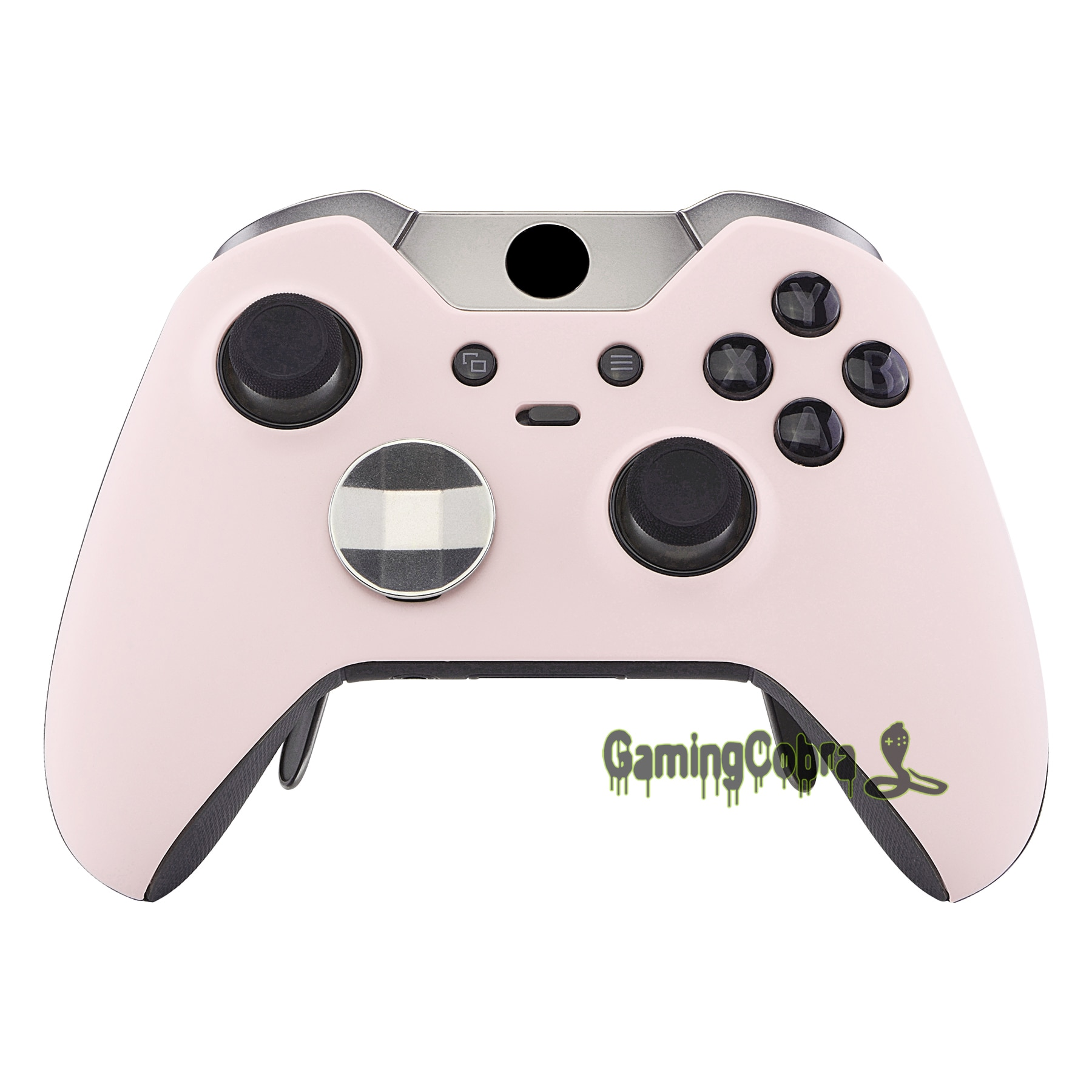 Personalizado Saruka rosa suave tacto superior carcasa frontal Kit de reemplazo para Xbox One Elite Controller modelo 1698