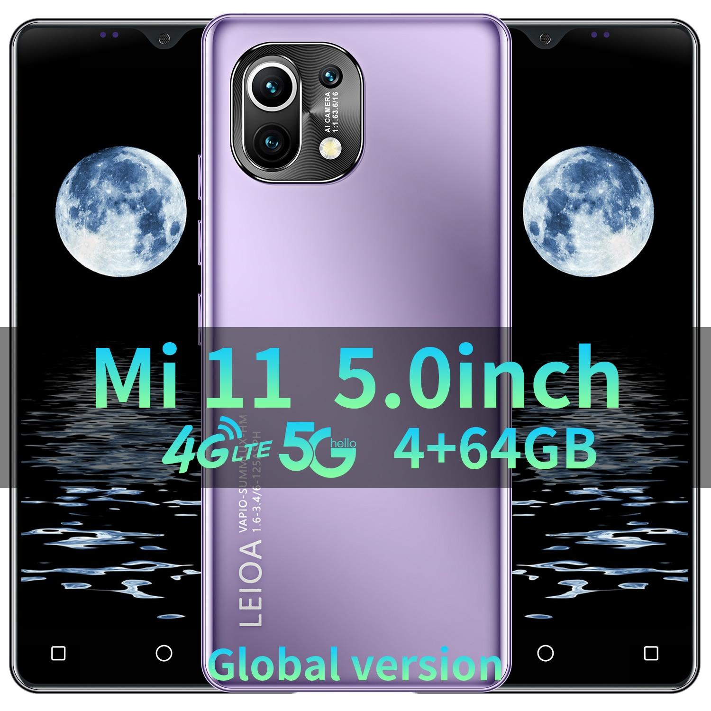 Snapdragon888 Smartphone XIO MI 11 5G Vernee Deca Core Mobile Phone Global Version Dual SIM Fingerprint ID Sansumg Cellphone