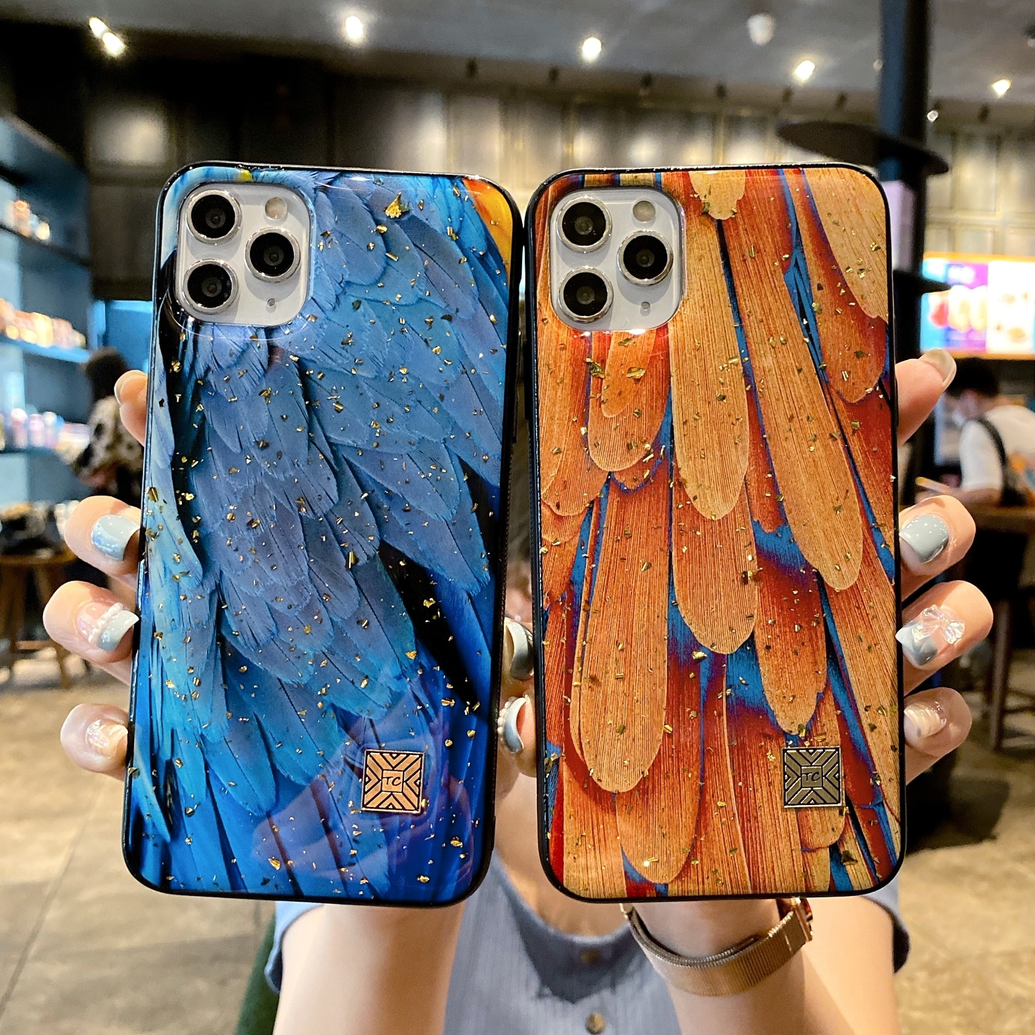 Literary Oil Painting Case For iPhone 11 12 Pro Max Mini 7 8 Plus XR X XS MAX Fashion Trend Creative