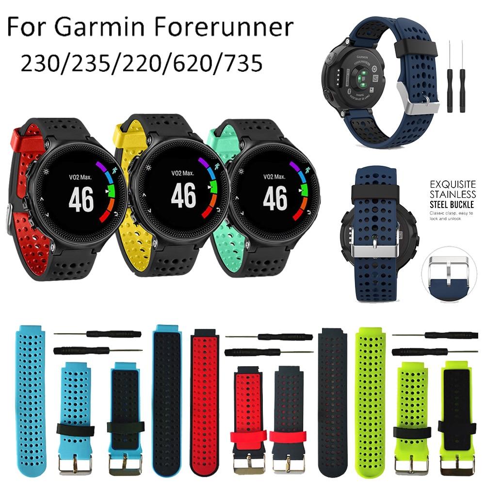 Watch Band For Garmin Forerunner 235 Silicone Strap Bracelet For Garmin Forerunner 220/230/235/620/630/735XT/235Lite Accessories