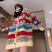 2021 autumn winter high quality women fashion clothes knitted colorful elegant women jacket coats s m l size