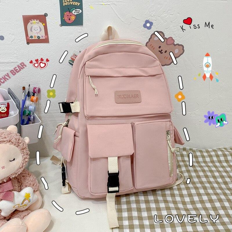 2021 New Trendy Version Of Large-Capacity Junior And High School Student Bag Lightweight Simple Trav