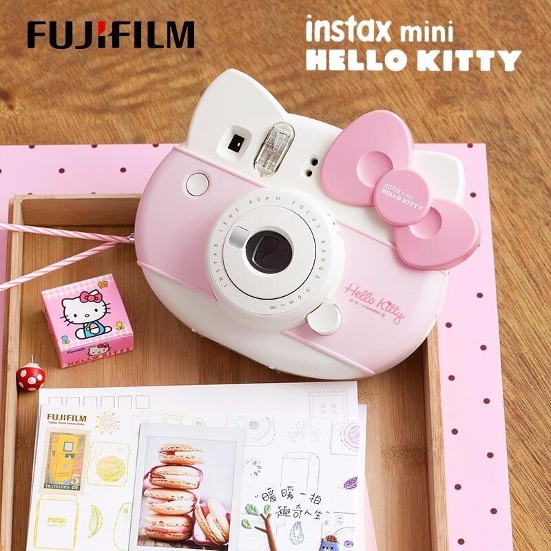 Promo Fujifilm Instax Mini  KITTY Instant Camera Fuji 40 Anniversary Film Photo Paper One Time Shot with 10sheets