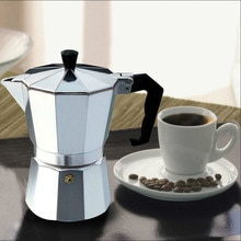 Aluminium Kaffee Hersteller Durable Moka Cafeteira Expresso Percolator Topf Praktische Moka Kaffee Topf 50/ 100/150/300/450/600mlYHJ101506