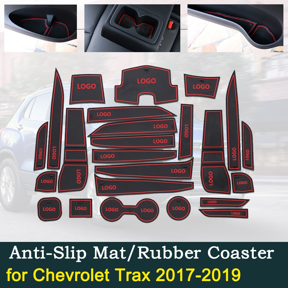 Cojín de goma para puerta antideslizante para Chevrolet Trax 2017 ~ 2019 2018 Tracker Holden MY17 MY18 MY19 accesorios de Interior