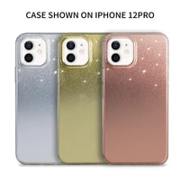 electroplate mirror flash powder gradient phone case for iphone 12 11 pro max xs x xr 7 8 plus shockproof protective cover funda