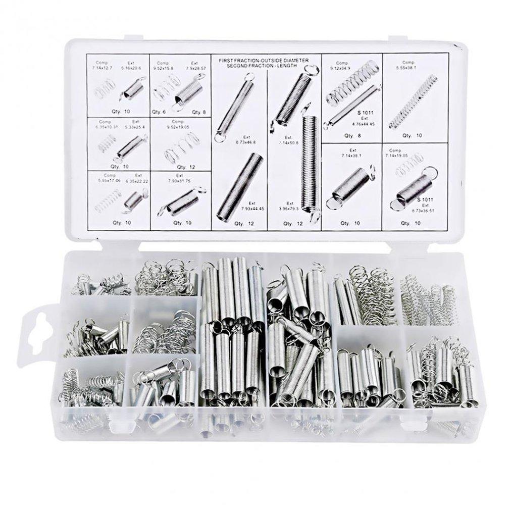 200Pcs/box Steel Spring Electrical Hardware Drum Extension Tension Springs  Pressure   Suit  practical set