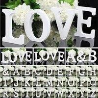 Blanc bois lettre Alphabet bricolage personnalise nom Design Art artisanat debout libre noel anniversaire fete de mariage decoration de la maison
