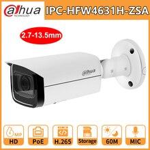 Dahua IP Camera Security HD 6MP IPC-HFW4631H-ZSA 2.7-13.5mm 5X Zoom Night Vision IR60M Built in Mic PoE  H.265 IP67 IK10 Outdoor