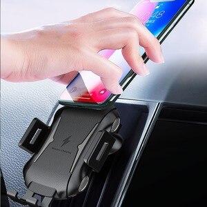 Крепление, устанавливаемое на вентиляционное отверстие в салоне автомобиля Беспроводное зарядное устройство для Sony Xperia 1 II XZ2 Премиум XZ3 ZTE Axon 10 Pro 10s Pro 5G зарядных устройств Qi автомобильное зарядное устройство Power