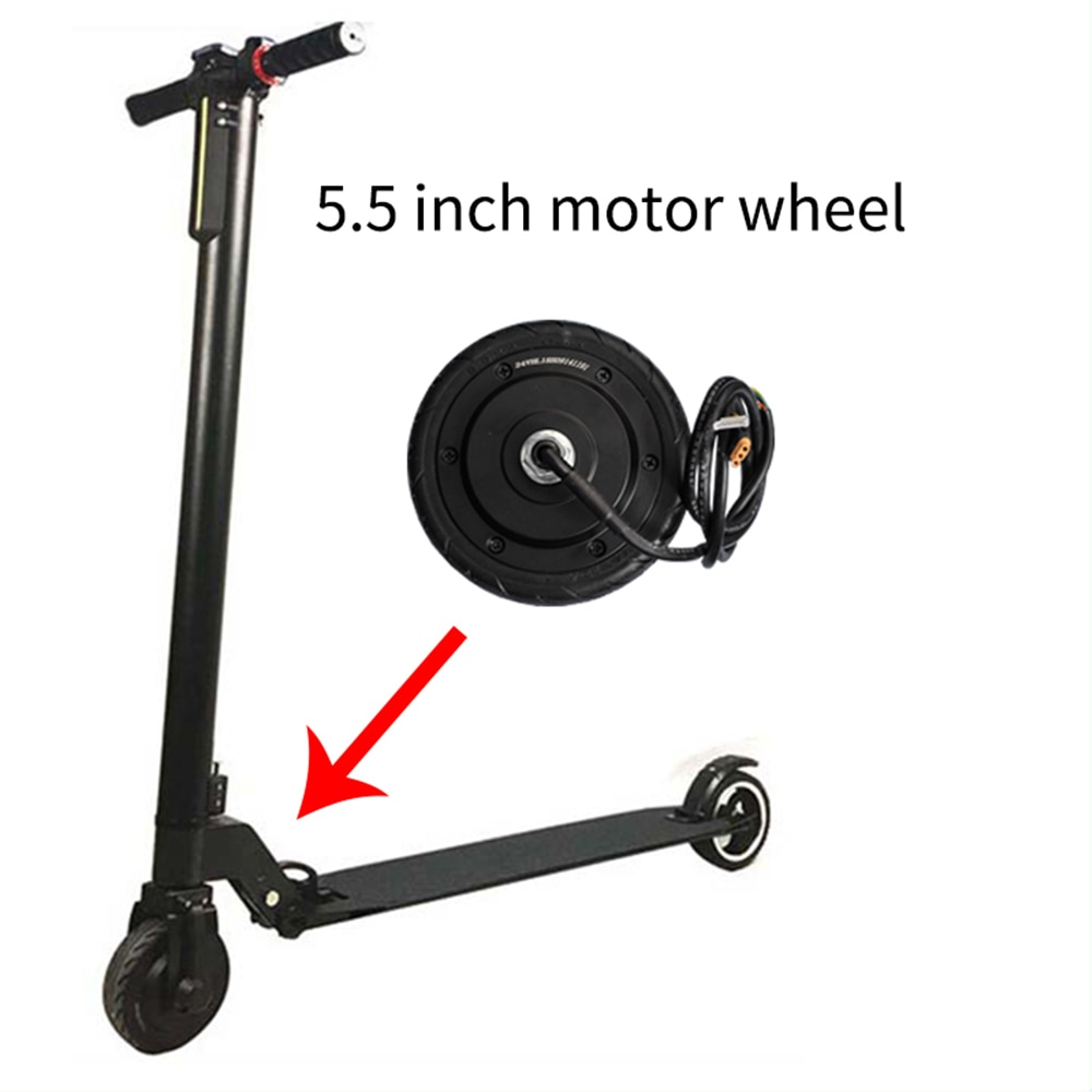 5/5.5 Inch Electric Scooter Motor 24V DC Hub Motor Hover Board Aluminum Alloy Carbon Fiber Scooter Parts Scooter Accessories