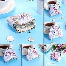 Women Mini Unicorn Wallet Card Holder Case Coin Purse Clutch Change Bag Children's Wallets Change Ho
