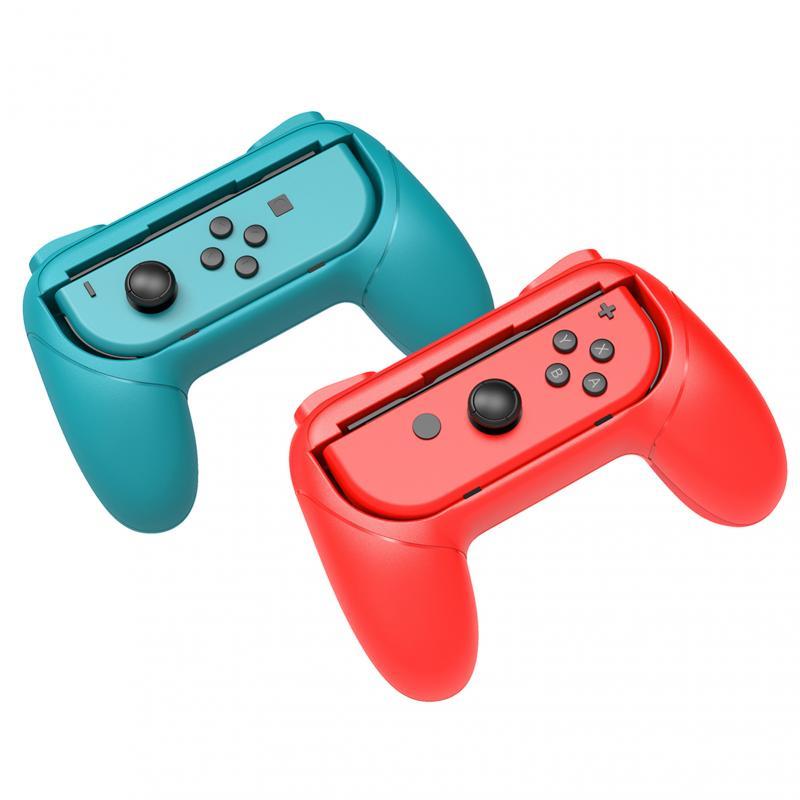 Suporte de controle ns joy-con esquerdo + direito, aperto de mão para controle nintendo switch, suporte para segurar