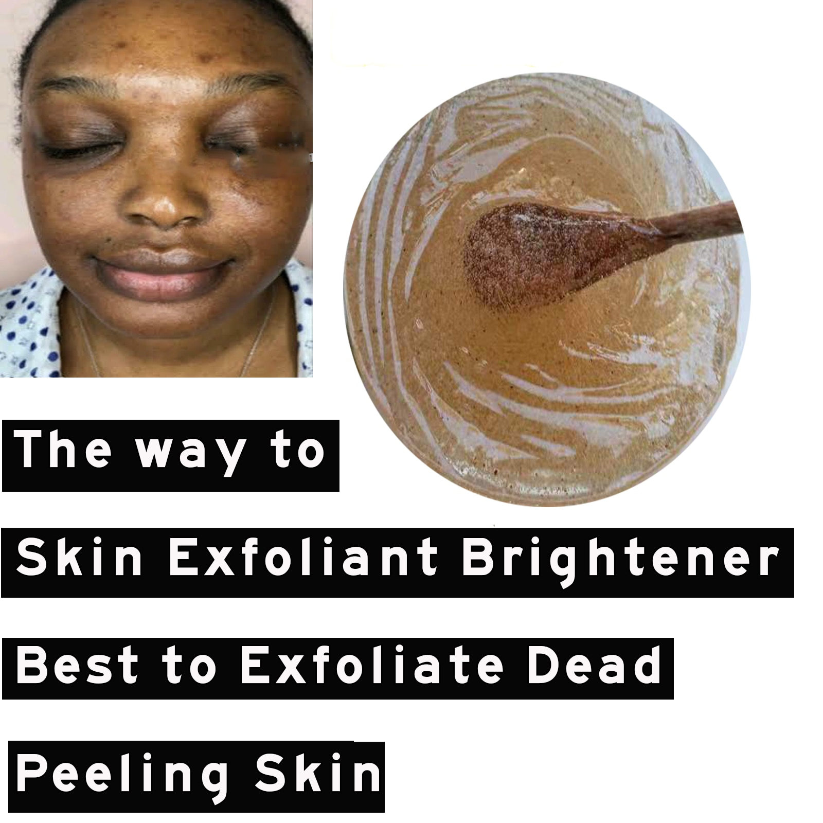 Alpha Hydroxy Acid Turmeric Walnut Body Scrub Skin Exfoliant Brightener