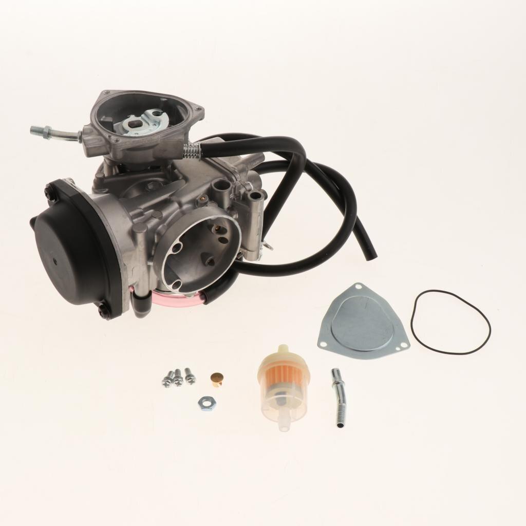 Carburador y Kit de montaje reconstruido para Yamaha Raptor 350 YFM350 04-12 Scooter ATV (Metal)