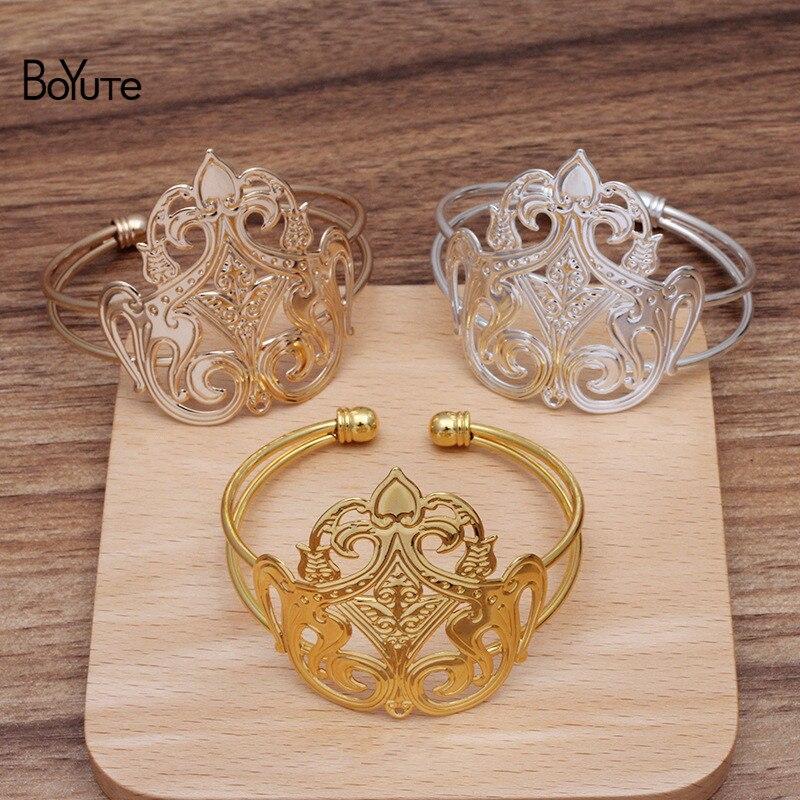 Boyute (5 peças/lote) 62*24mm metal bronze pulseira base pode ser pacote coroa de cabelo diy cos jóias acessórios