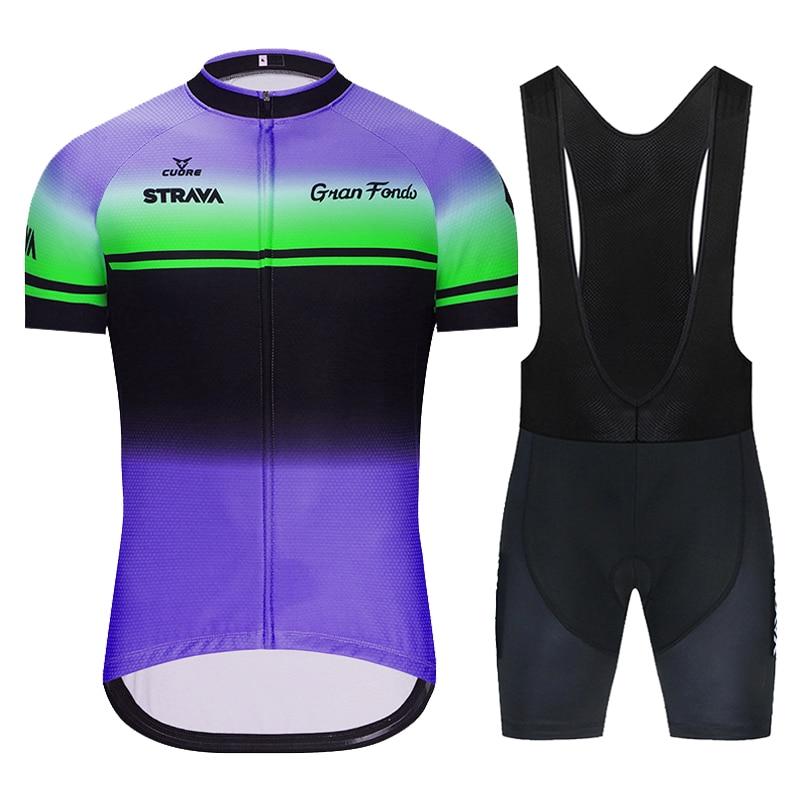 STRAVA 2021 Nueva Jersey de Ciclismo conjunto MTB uniforme bicicleta Ropa de...