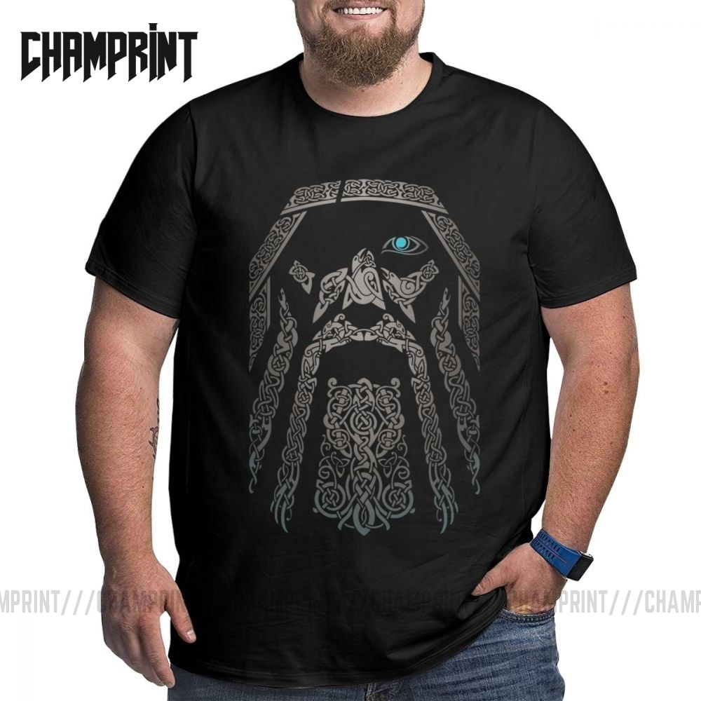 Männer ODIN Vikings Valhalla T Hemd Baumwolle Vintage Große Hohe Tops Tees T-Shirts Plus Größe Große Größe Große Kleidung 4XL 5XL 6XL