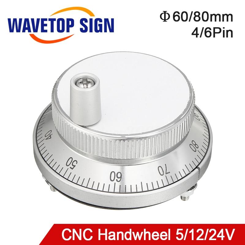 Free Shipping CNC Pulser Handwheel 5V 6Pin Pulse 100 Manual Pulse Generator Hand Wheel CNC Machine 60mm Rotary Encoder new original heidenhain elevator rotary sincos encoder 5v ecn1313 2048 id768295 54