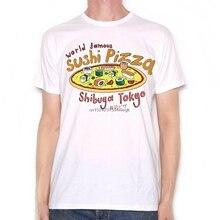 Sushi Pizza T camisa Shibuya Tokio loco T Shirt oficial gamberros de la vieja escuela
