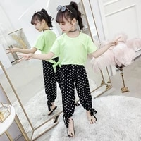 children clothing tracksuit for girls clothing sets summer teen girls clothes dot outfit suit kids clothes 4 6 8 10 12 13 years