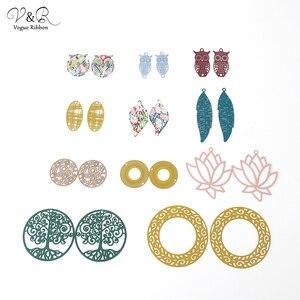 Сделай Сам, изготовление ювелирных изделий ручной работы, металлические подвески в виде листьев/Совы/геометрической формы/круга/дерева/цве...