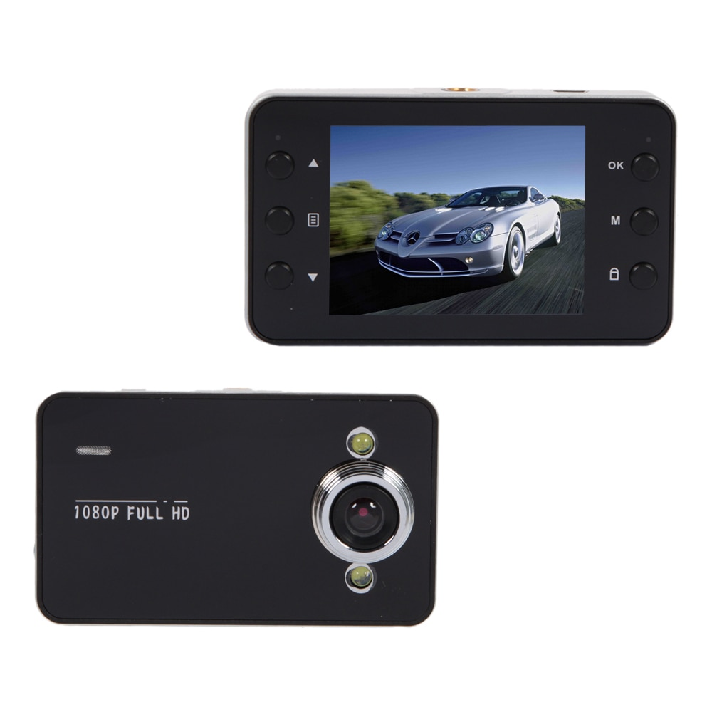 K6000 Car Recorder 2inch LCD Display Cam 2 LED Wide Angle Lens 1080P Camera with Night Vision Suppor