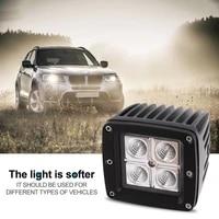 universal super bright 12 24v 12w car suv truck motorcycle headlight square shape waterproof car led work light