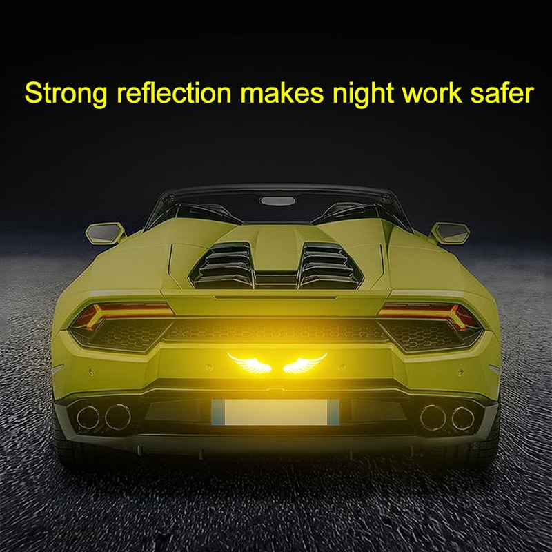 2PCS Safety Driving Reflective Sticker Scratch Cover Strip Warning Sign Car Exterior Accessories