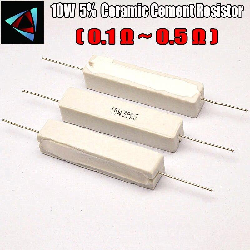 10W 5% 0.1 0.22 0.33 0.5 ohm R Ceramic Cement Resistor / Resistance Passive Component