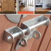 anti theft durable staple stainless steel slide bolt hasp hardware door latch gate trumpet home safety practical lock