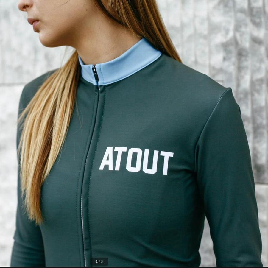 ATOUT-jersey de ciclismo de montaña Brisk LS para mujer, ropa transpirable de...