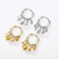 disc earrings retro female earrings temperament hoop earrings simple and popular round disc tassel earrings fashion jewelry