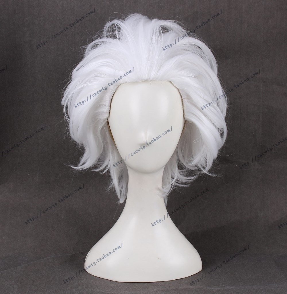 Ursula Cosplay Wig The little Mermaid White Short Heat Resistant Synthetic Hair Wigs + Wig Cap