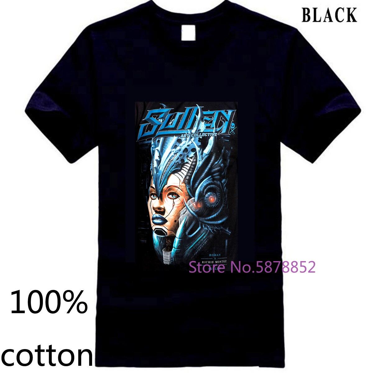 Sullen cyber roman abrego richie montez nova camisa masculina t camiseta topos camisetas 100% algodão 3xl 4xl 5xl manga curta