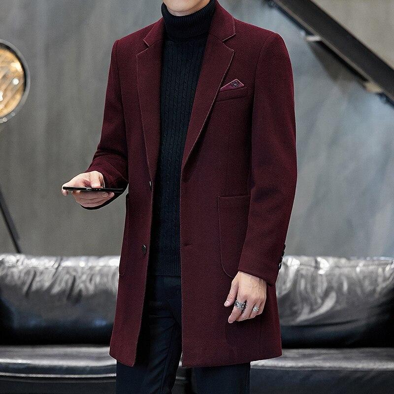 Chaquetas de moda de Color puro para Hombre, Abrigo informal de invierno,...