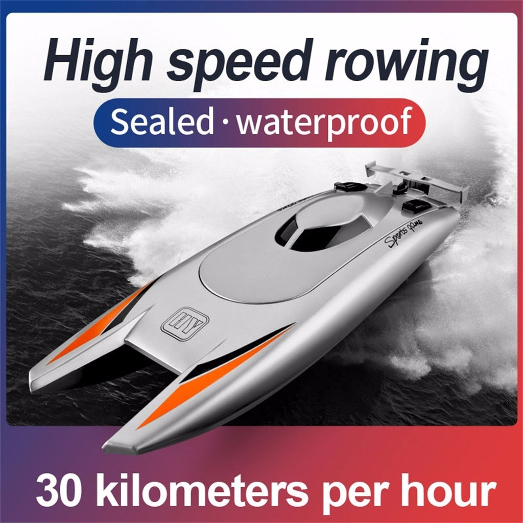 RC Boats for Kids Adult 25KM/H High Speed Racing Boat 2 Channels Remote Control Boats for Pools Raci