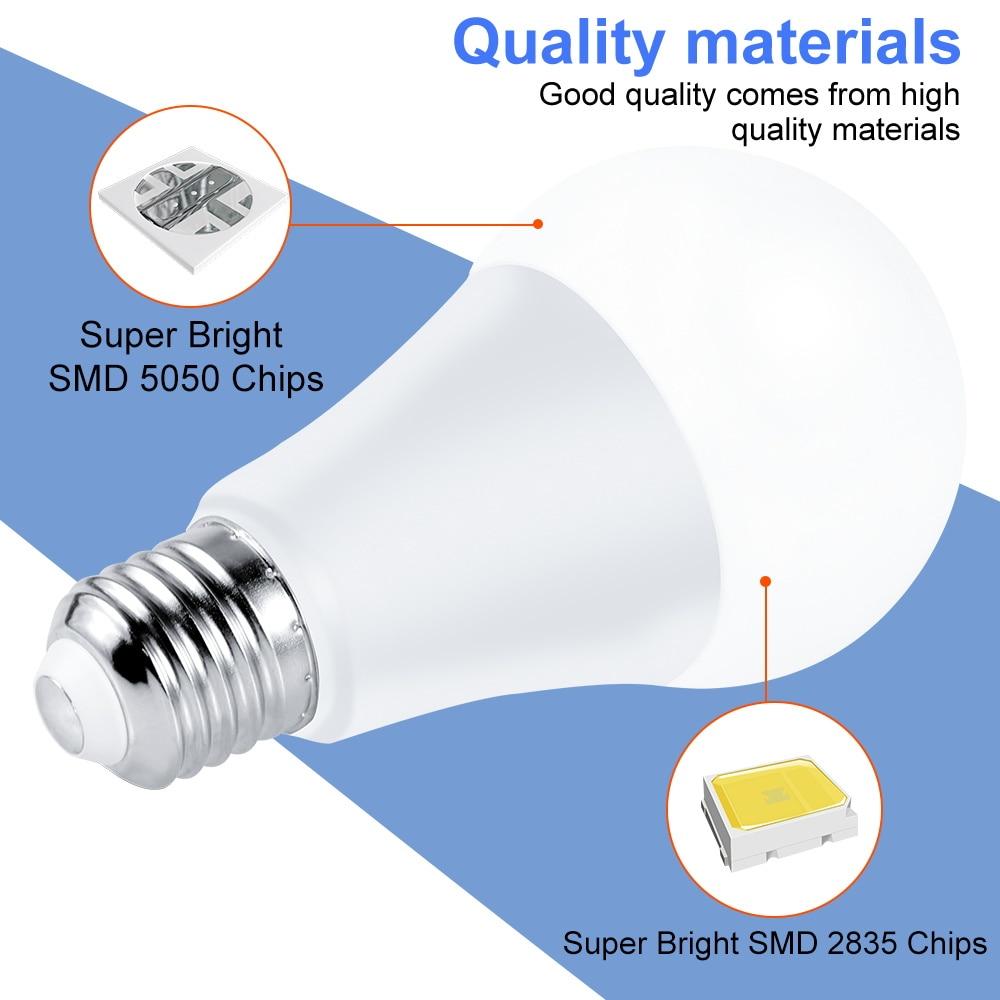 220V E27 RGB LED Bulb Lights 5W 10W 15W RGBWW Light 110V LED Lampada Changeable Colorful RGBW LED Lamp With IR Remote Control enlarge