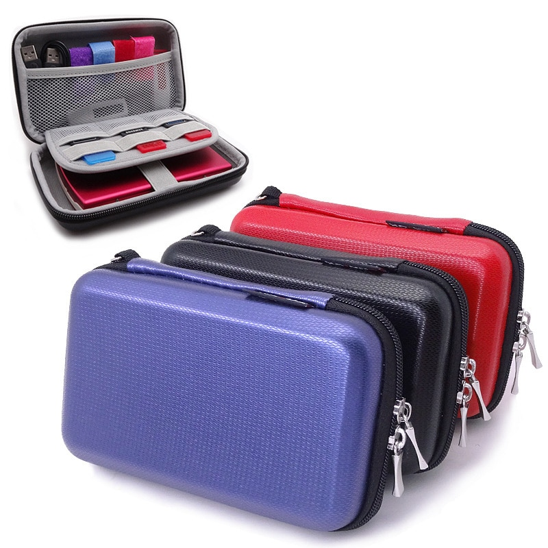 Data Cable Storage Bag Earphone Wire Organizer Case Card Cable Earbuds Holder Box Portable Digital S