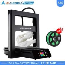 JGAURORA 3D impresora A5 actualizado A5S Metal completo Diy Kit Extreme alta precisión gran tamaño de impresión 305x305x320mm Impressora 3d