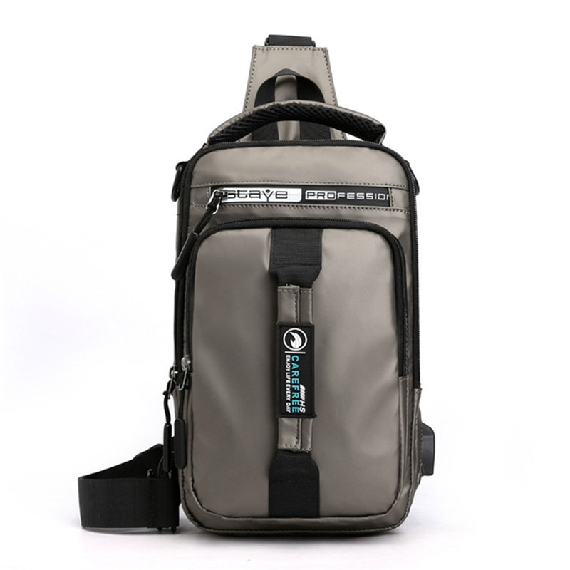 multifunction small backpack crossbody bag waterproof men chest bag 11 inch laptop ipad shoulder bag men s chest pack Multifunction Crossbody Bag Men USB Charging Chest Pack Short Trip Messengers Chest Bag Waterproof Large Capacity Shoulder Bag