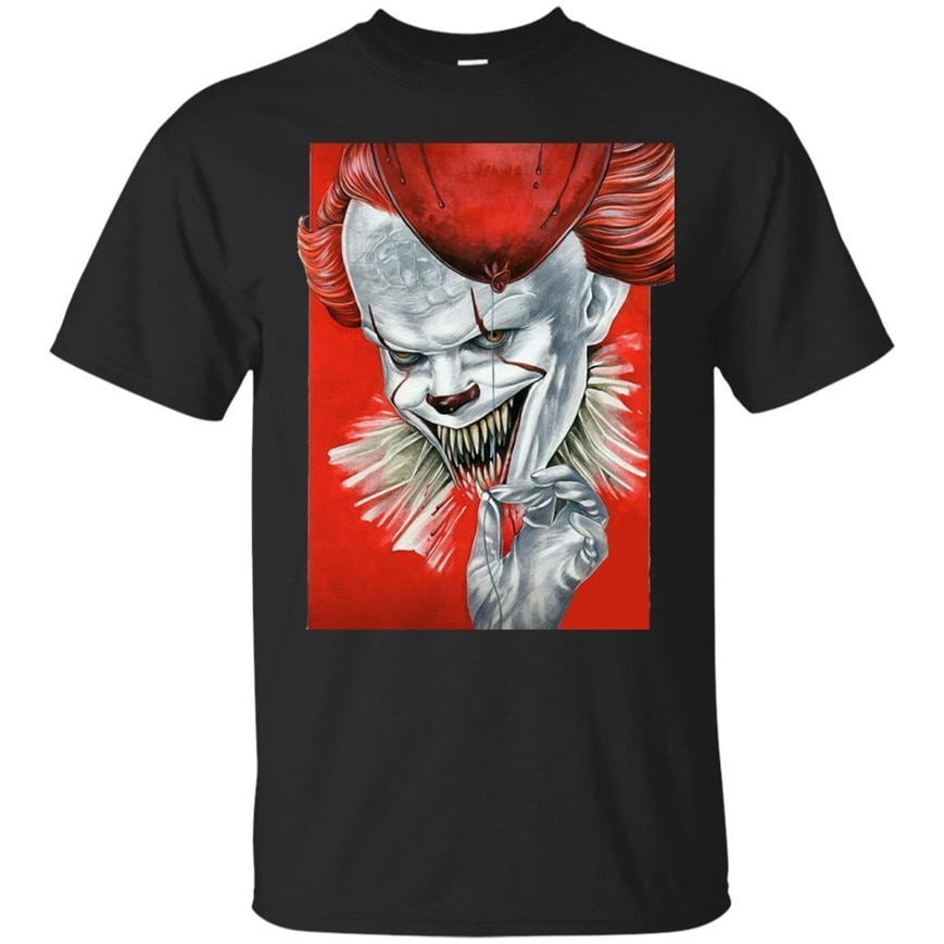 It camiseta Halloween Pennywise It camiseta Horror Moive manga corta S-3Xl Harajuku Tops moda clásica camiseta