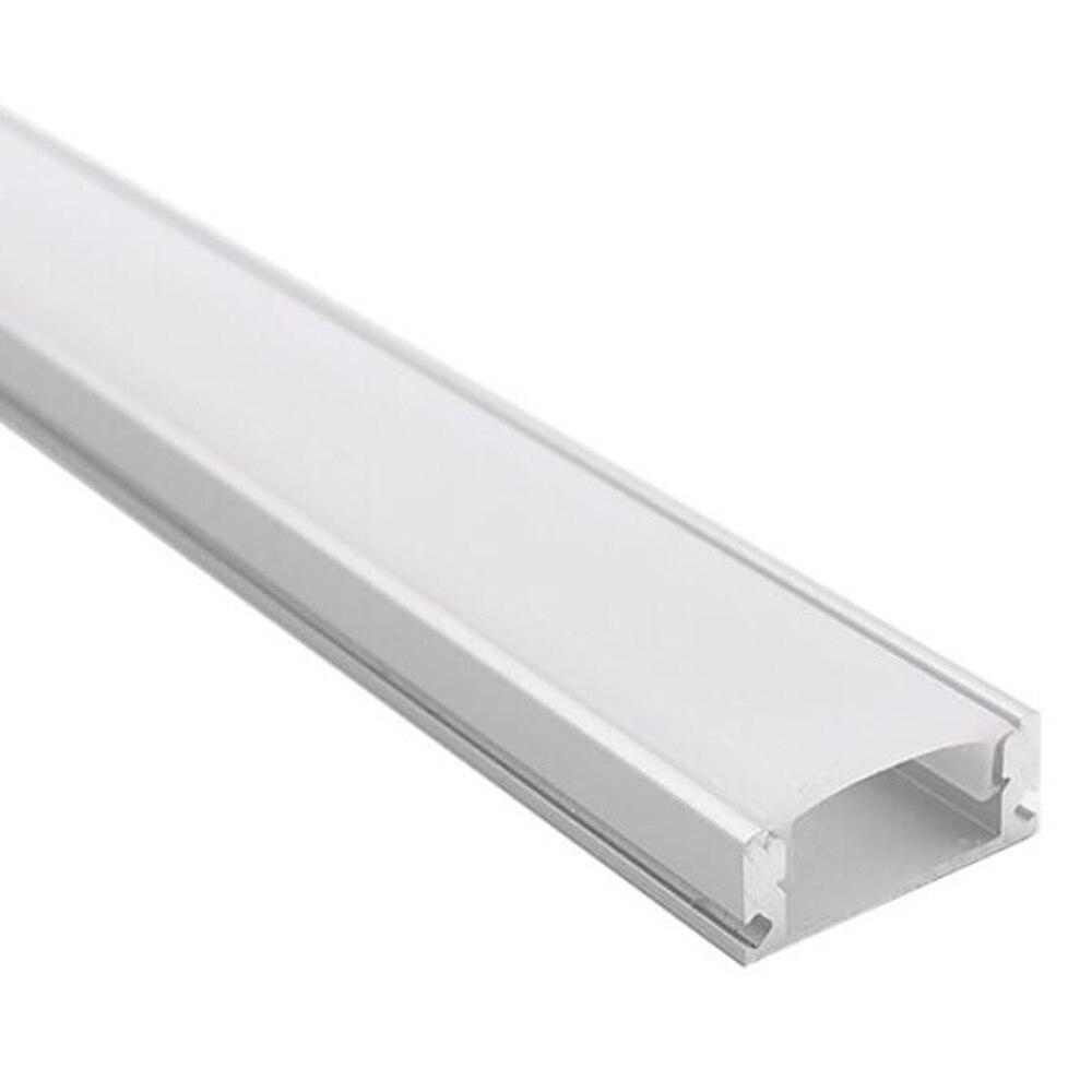 Profili alluminio led 0.5m led bande profilé en aluminium pour 12mm pcb 5050 5630 led bande boîtier en aluminium canal avec couvercle