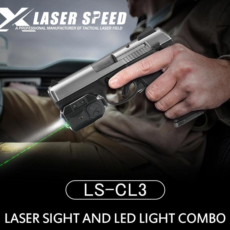 Laserspeed militar ruger p94 láser Rayo verde y pistola glock luz led combo