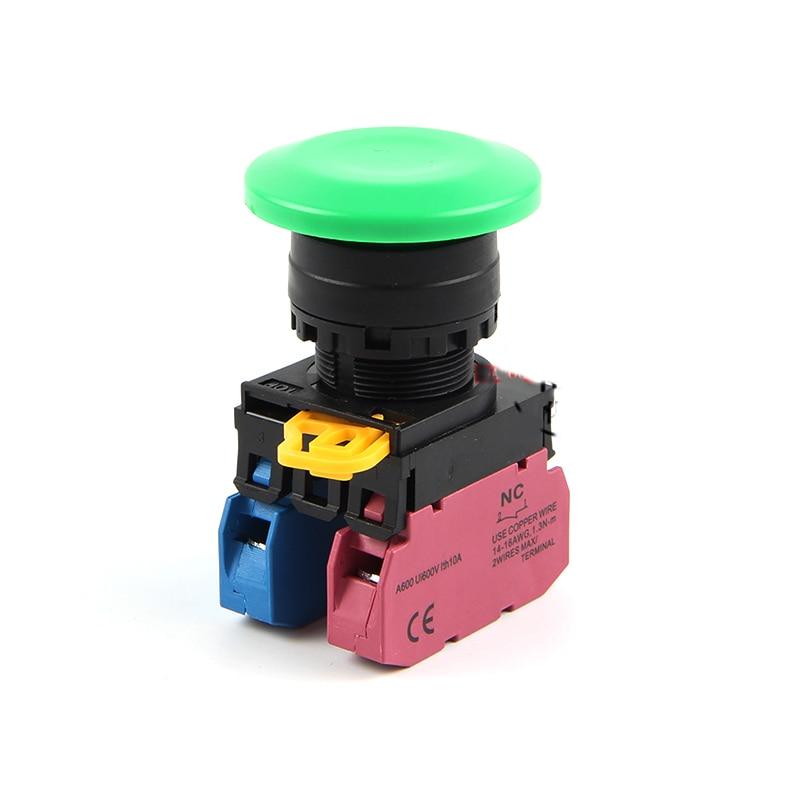 2-миллиметровый кнопочный переключатель, водонепроницаемый переключатель с грибной головкой, с возможностью поворота на 2/2/1/1/2/1/2/1