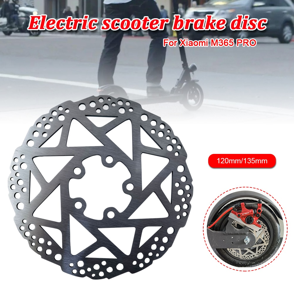 120mm/135mm Brake Disk for Xiaomi M365 Pro Electric Scooter Brake Stainless Steel Disc Pads Mjia Skateboard Replacement Parts