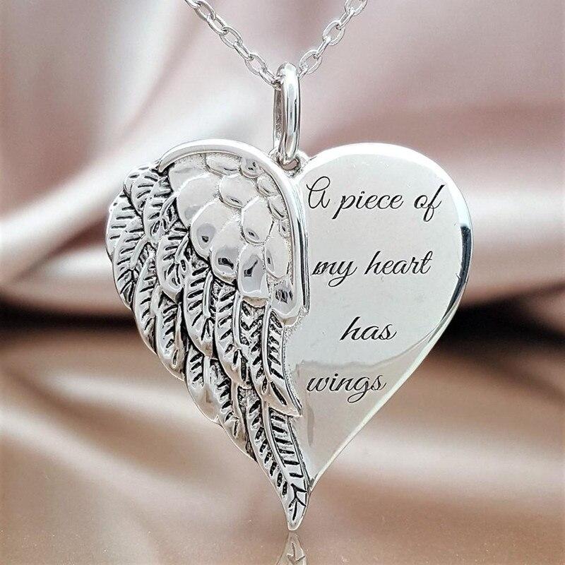 Collar de Ángel con texto Whisper In My Heart, 6 uds.