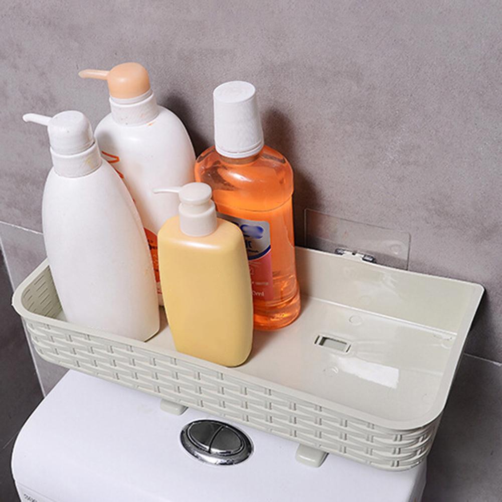 Toilet Suction Wall Mount Storage Basket Bathroom Shelf Rack Holder Organizer nice